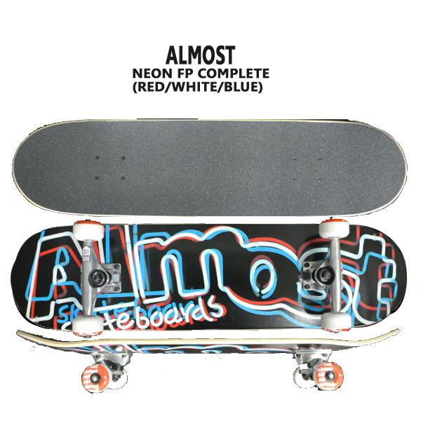 ALMOST/オルモスト コンプリートスケートボード/スケボー NEON FP RED/WHITE/BLUE 8.0 送料無料 SKATEBOARDS スケボー 完成品 SK8