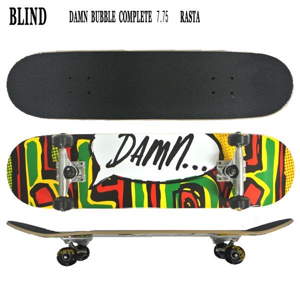 BLIND/ブラインド コンプリートスケートボード/スケボー OG DAMN BUBBLE RASTA 7.75 送料無料 SKATEBOARDS スケボー 完成品 SK8