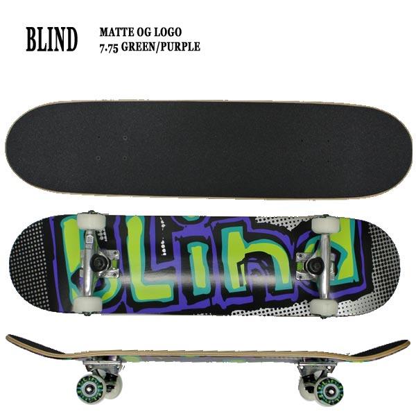 BLIND/ブラインド コンプリートスケートボード/スケボー MATTE OG LOGO FP COMP 7.75 送料無料 SKATEBOARDS スケボー 完成品 SK8