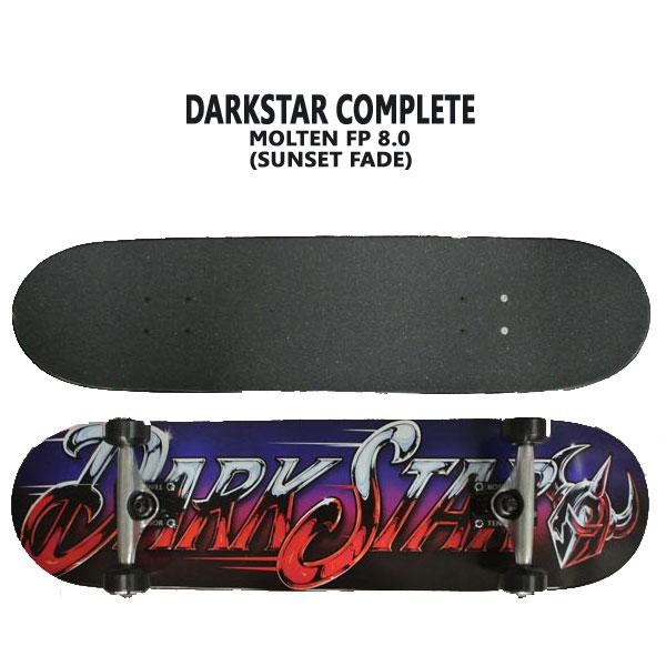 DARK STAR/ダークスター コンプリートスケートボード/スケボー MOLTEN FP COMPLETE 8.0 SUNSET FADE 送料無料 SKATEBOARDS スケボー 完成品 SK8