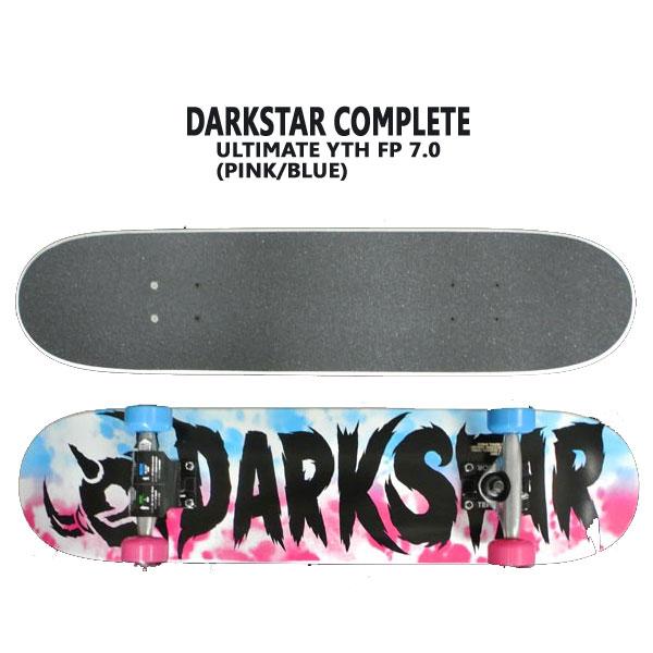 子供用 DARK STAR/ダークスター コンプリートスケートボード/スケボー ULTIMATE YOUTH MINI7.0 FP COMPLETE PINK/BLUE SKATEBOARDS スケボー 完成品 SK8