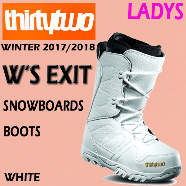 【数量限定】 THIRTYTWO/サーティーツー/32 WOMEN'S WOMEN'S EXIT WHITE 17-18モデル 女性用スノーボードブーツ レディース BOOTS EXIT SNOW BOARDS BOOTS サーティートゥー スノボ送料無料, Merry:735a7f23 --- supercanaltv.zonalivresh.dominiotemporario.com