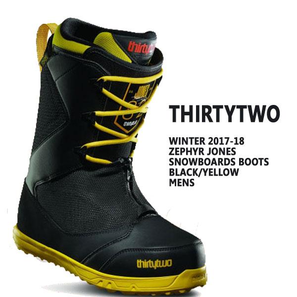 THIRTYTWO/サーティーツー/32 ZEPHYR JONES BLACK/YELLOW 17-18モデル スノーボードブーツ HEEL HOLD KIT付き SNOW BOARDS BOOTS サーティートゥー スノボ送料無料