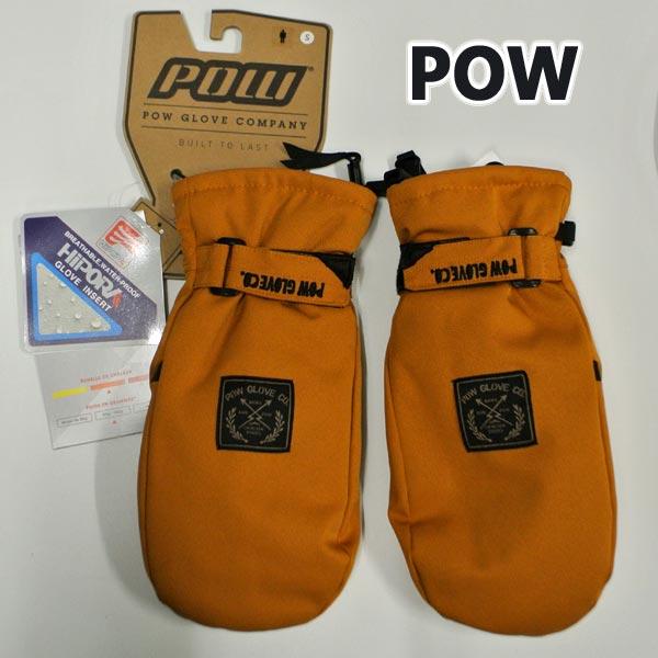 POW/パウ XG MITT TOBACCO 男性用 HIPOLA防水 メンズ スノーボードミット ミトン SNOW BOARD スノボ [返品、交換及びキャンセル不可]