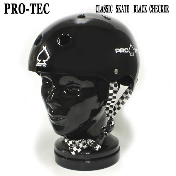PRO-TEC プロテックよりスケートボード用 直営店 ヘルメット入荷 ハイクオリティ プロテック CLASSIC SKATE HELMET 大人用 SK8用 スケートヘルメット SKATEBOARDS CHECKER BLACK