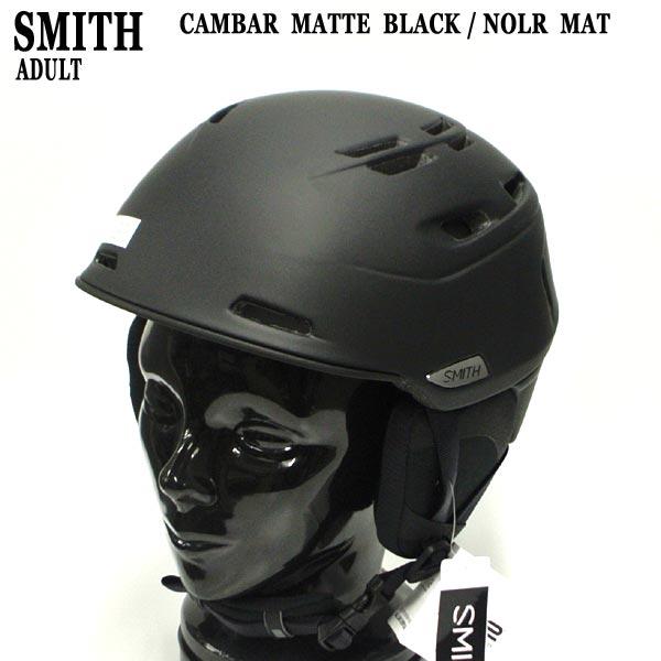 値下げしました!SMITH/スミス CAMBER SNOW HELMETS ヘルメット MATTE BLACK/NOIR MAT SNOWBOARDS スノボ用 大人用 雪山 18-19モデル