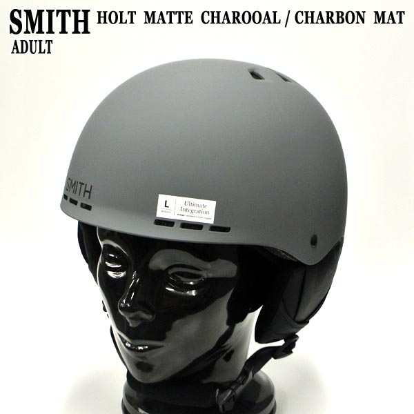 SMITH/スミス HOLT SNOW HELMETS ヘルメット MATTE CHARCOAL SNOWBOARDS スノボ用 大人用 雪山 18-19モデル