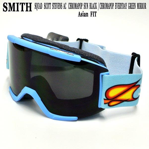 SMITH/スミス SNOW GOGGLE SQUAD SCOTT STEVENS AC ASIANFIT/アジアンフィット CHROMAPOP SNOWBOARDS GOGGLE スノーボード スキー ゴーグル スノボ18-19