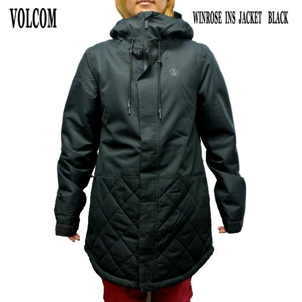 値下げしました!VOLCOM/ボルコム レディース WINROSE INS JACKET BLACK 女性用 スノボ用ジャケット スノボウェア 上着 スノーウェア 耐水 防寒 機能性 スノーボード SNOWBOARDS