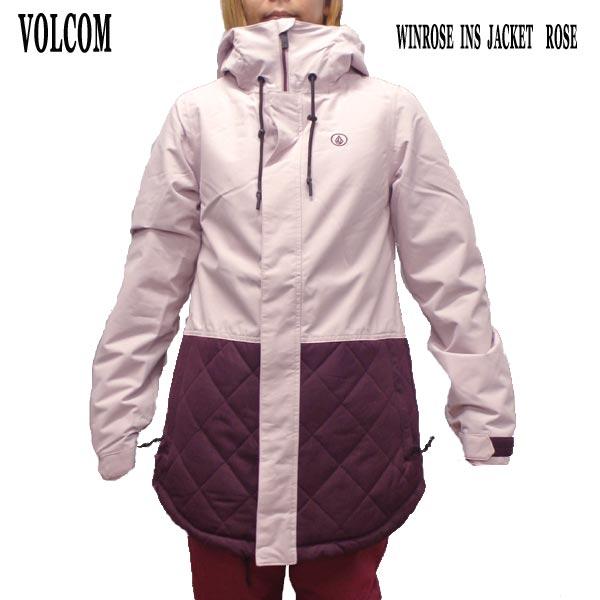 VOLCOM/ボルコム レディース WINROSE INS JACKET ROSE 女性用 スノボ用ジャケット スノボウェア 上着 スノーウェア 耐水 防寒 機能性 スノーボード SNOWBOARDS