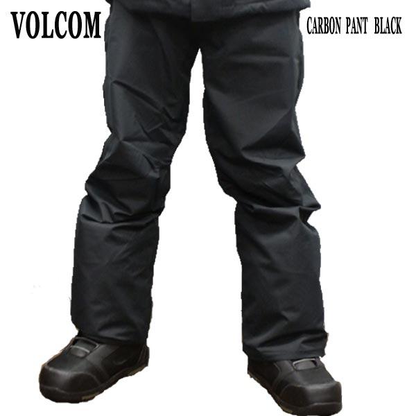 VOLCOM/ボルコム CARBON PANTS BLACK メンズ 男性用 スノボ用パンツ エルゴフィット スノボウェア スノーウェア 耐水 防寒 機能性 10000MM スノーボード SNOWBOARDS