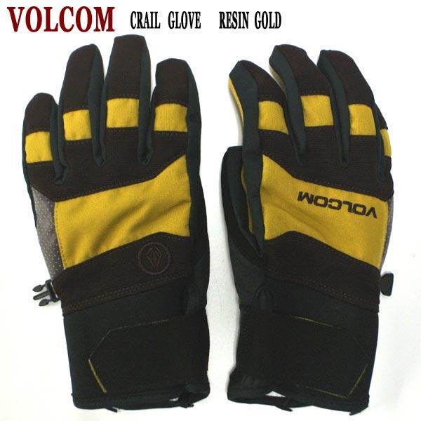値下げしました!VOLCOM/ボルコム CRAIL GLOVE RESIN GOLD(RSG) 18-19モデル 男性用メンズ スノーボードミットグローブ ミトン SNOW BOARD MITT スノボ
