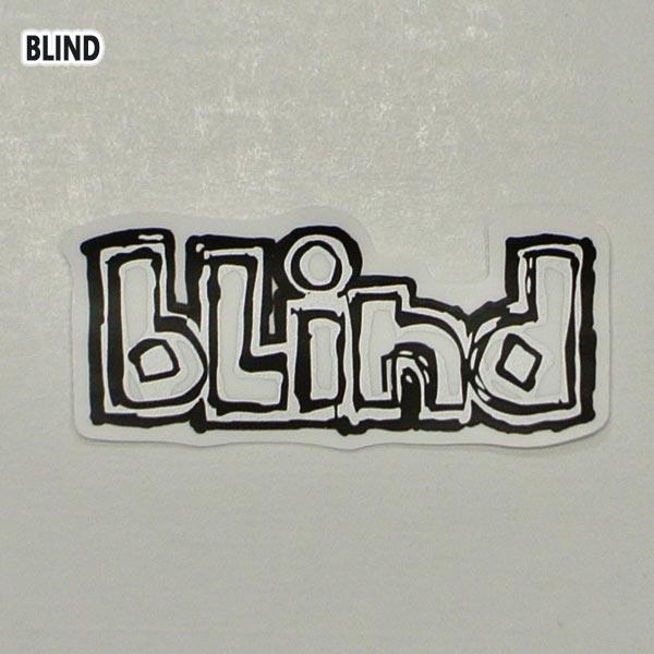 BLIND ブラインド OG LOGO DECAL STICKER ロゴ 低廉 シール 入荷 ビニールシール スケボー 商品追加値下げ在庫復活 ステッカー