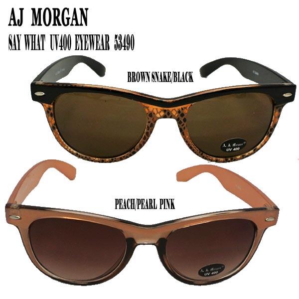 AJ 超特価 MORGAN エイジェイモーガンのサングラスが新入荷 値下げしました エイジェイモーガン SAY WHAT UV400 GLASS SUN サングラス EYEWEAR メガネ_02P01Oct16 ※アウトレット品
