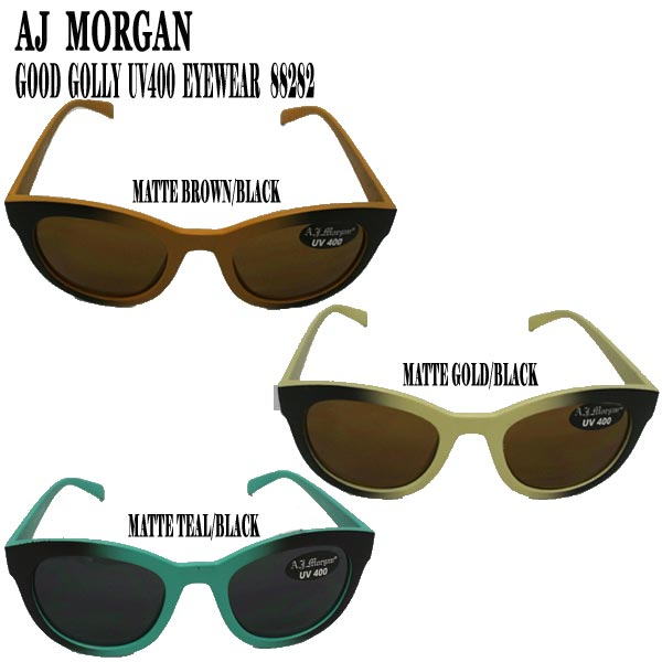 AJ MORGAN エイジェイモーガンのサングラスが新入荷 値引き 値下げしました エイジェイモーガン GOOD GOLLY GLASS オンラインショッピング サングラス UV400 メガネ_02P01Oct16 SUN EYEWEAR