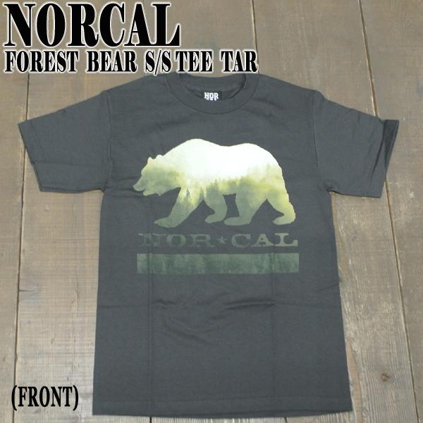在庫一掃 NORCAL ノーカル FOREST BEAR S TEE TAR メンズ半袖Tシャツ入荷 値下げしました ノースカリフォルニア 半袖 T-shirts 熊 メーカー公式 メンズ 丸首 Tシャツ 男性用