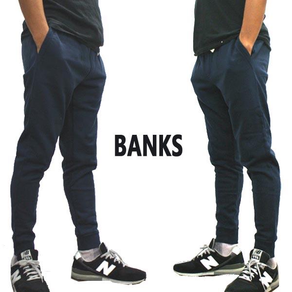 BANKS/バンクス PRIMARY TRACKSUIT PANT メンズ スウェットパンツ DIRTY DENIM ボトムス トラックパンツ ロングパンツ [返品、交換及びキャンセル不可]