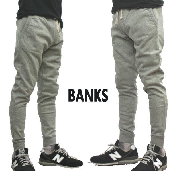 BANKS/バンクス PRIMARY TRACKSUIT PANT メンズ スウェットパンツ HEATHER GREY ボトムス トラックパンツ ロングパンツ [返品、交換及びキャンセル不可]