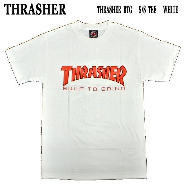 THRASHER スラッシャー INDEPENDENT インデペンデント コラボ BTG S TEE セール特価 WHITE メンズ 男性用 MENS 半袖Tシャツ 値下げしました T-shirts 購買 ロゴ 丸首 半袖 半袖Tシャツ入荷