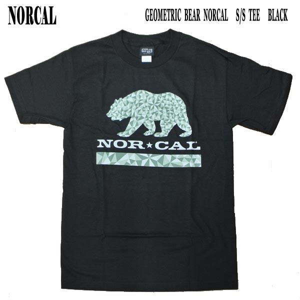 NORCAL ノーカル GEOMETRIC BEAR S TEE BLACK メンズ半袖Tシャツ入荷 物品 値下げしました メンズ 男性用 新入荷 流行 T-shirts 丸首 半袖 ノースカリフォルニア 熊 44153858 Tシャツ MENS