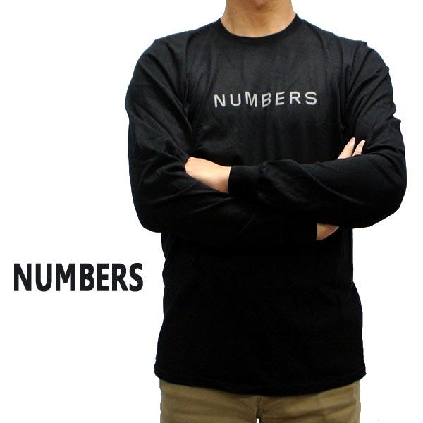 NUMBERS EDITION ナンバーズエディション WORDMARK L S TEE BLACK 長袖Tシャツ入荷 世界の人気ブランド T-SHIRTS ロンT メンズ 交換及びキャンセル不可 男性用 新色追加して再販 長袖Tシャツ 丸首 返品