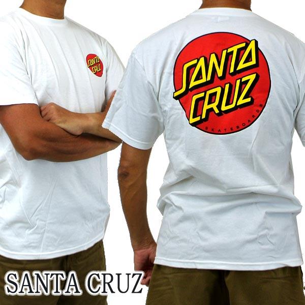 SANTA CRUZ サンタクルズ CLASSIC DOT CHEST S REGULAR TEE Tシャツ 国内正規総代理店アイテム 交換及びキャンセル不可 丸首 T-shirts 業界No.1 WHITE 半袖 Tシャツ入荷 返品