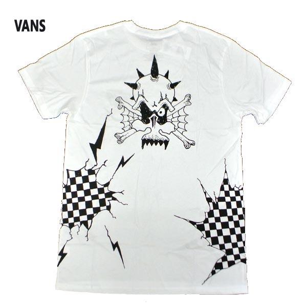 VANS バンズ REIGN THE LIGHTNING S 最新号掲載アイテム TEE WHITE 半袖 グラフィック 値下げしました 入荷 店 男性用 ロゴ メンズ 半袖TEE MENS