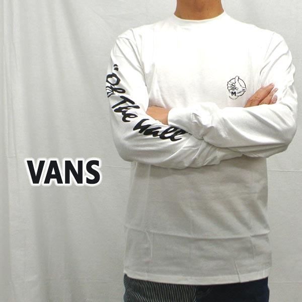 VANS バンズ BMX OFF THE WALL L S TEE WHITE メンズ 交換及びキャンセル不可 返品 男性用 値下げしました プリント メーカー公式 販売実績No.1 長袖TEE MENS 長袖Tシャツ入荷