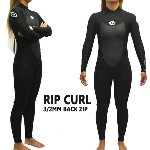 RIP CURL/リップカール 女性用 3/2mm STEAMER OMEGA BACK ZIP 0090 BLACK レディース フルスーツ ウェットスーツ 女性用 送料無料 [サイズのある場合のみ交換可能 返品キャンセル一切不可]