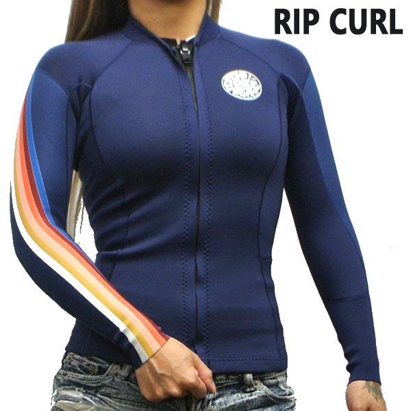 RIP CURL/リップカール レディース用 DAWN PATROL 1.5mm L/S Jacket STRIPE 長袖タッパ WET SUITS/ウェットスーツ タッパー 送料無料 女性用 [サイズのある場合のみ交換可能 返品キャンセル一切不可] WVE8BW