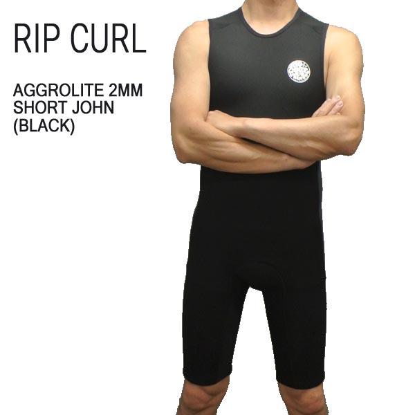 RIP CURL/リップカール 2mm AGGROLITE SHORTJOHN/ショートジョン BACK ZIP BLACK WET SUITS/ウェットスーツ 送料無料 男性用 メンズ スプリング