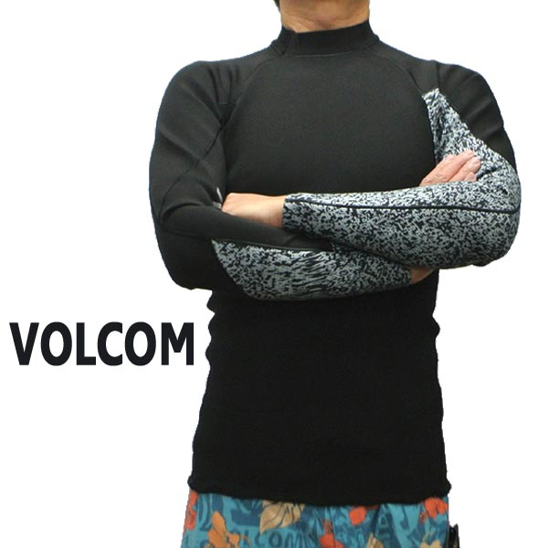 値下げしました!VOLCOM/ボルコム NEO REVO JACKET BLACK メンズ長袖タッパー 男性用サーフィン用ウェットスーツ 送料無料!!