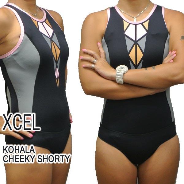 XCEL/エクセル KOHALA CHEEKY BIKINI CUT BACK ZIP 2MM BGY RACERBACK レディース用 バックジップ 女性用 A-LINE ウェットスーツ