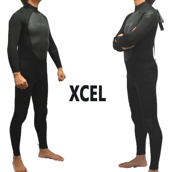 XCEL/エクセル 4/3mm AXIS BACK ZIP 4/3 FULLSUIT WET SUITS/ウェットスーツ BLK フルスーツ 送料無料 [サイズのある場合のみ交換可能 返品キャンセル一切不可] 男性用 MT43AX18