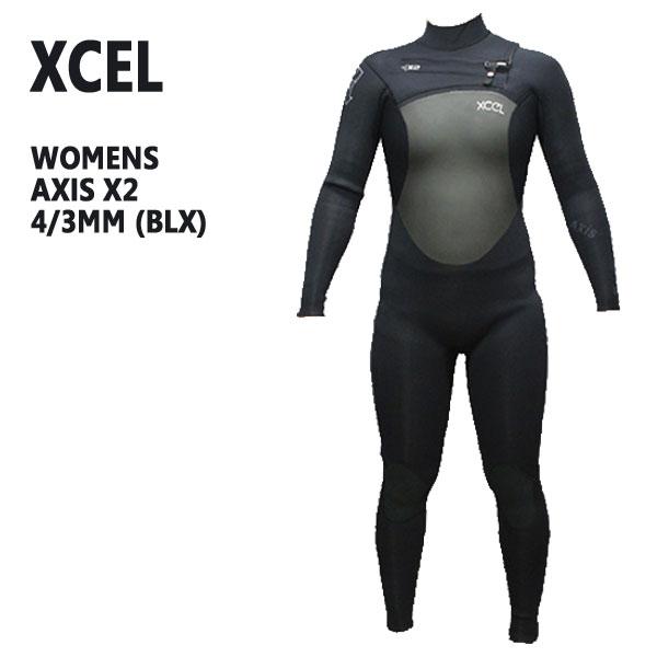 値下げしました!レディース用XCEL/エクセル AXIS X2 ウェットスーツ 4/3mm BLX 送料無料チェストジップ 女性用_02P01Oct16