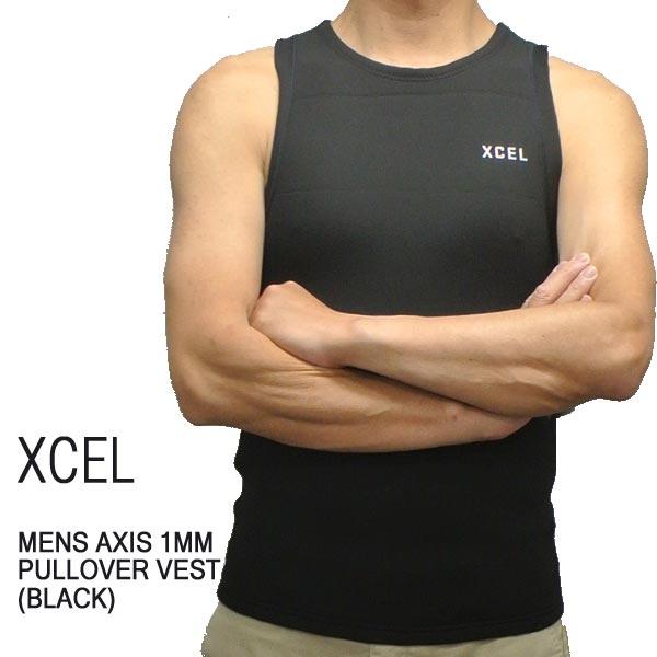 XCEL/エクセル AXIS 1mm PULLOVER VEST 2018 WET SUITS/ウェットスーツ BLACK ベスト 送料無料 男性用