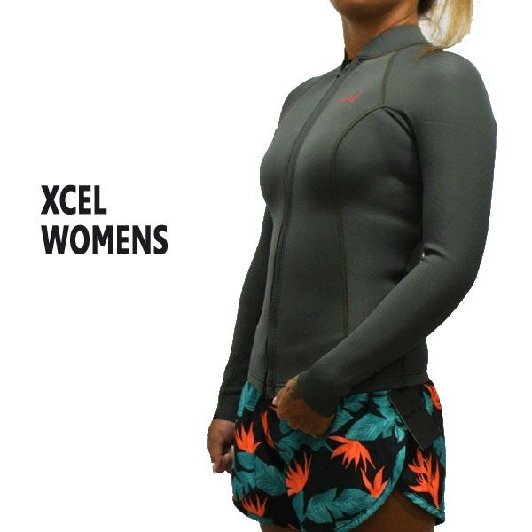 XCEL/エクセル レディース用 2/1mm AXIS L/S JACKET WET SUITS/ウェットスーツ JBJ タッパ 送料無料 [サイズのある場合のみ交換可能 返品キャンセル一切不可] 女性用 WN216AX8