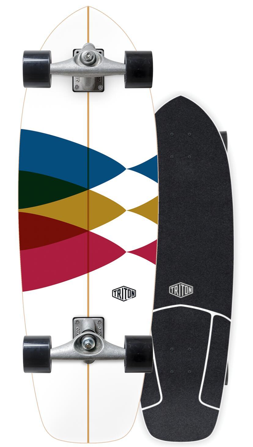 """サーフィンの陸のトレーニングに CARVER SKATEBOARD 商品 発売モデル カーバースケートボード TRITON SPECTRAL 日本正規品 30"""" CX4"""