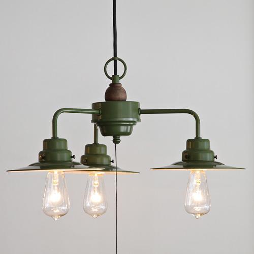 後藤照明Verdeシリーズ ローマ レプリカ球40WアルミP1緑塗装3灯用 レプリカ球40W付属