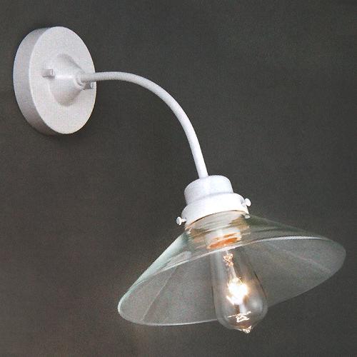 壁にもレトロモダン照明 後藤照明電柱型ブラケット白 透明 屋内用 超定番 付属電球無し セール品