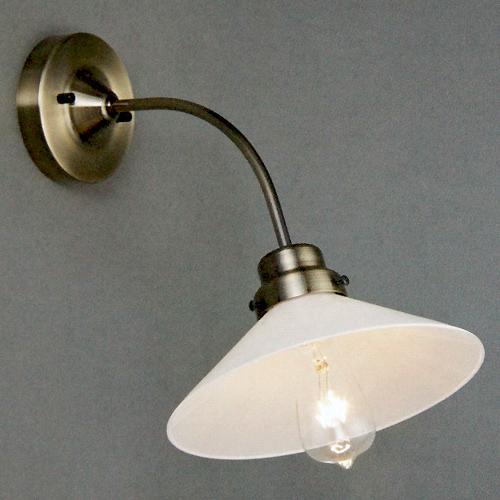 後藤照明電柱型ブラケット真鍮ブロンズ鍍金(乳白)(付属電球無し)屋内用