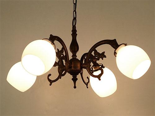 LAMPS4灯シャンデリア621A NTU(チェーン)アンティーク色