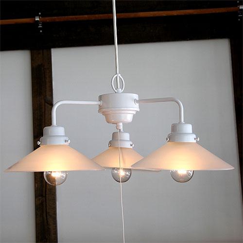 後藤照明Blancoシリーズ番外 外消しP1硝子3灯用白塗装