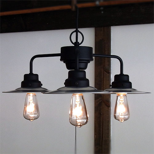 後藤照明アルミP13灯用ブラックスチール レプリカ球40W付属