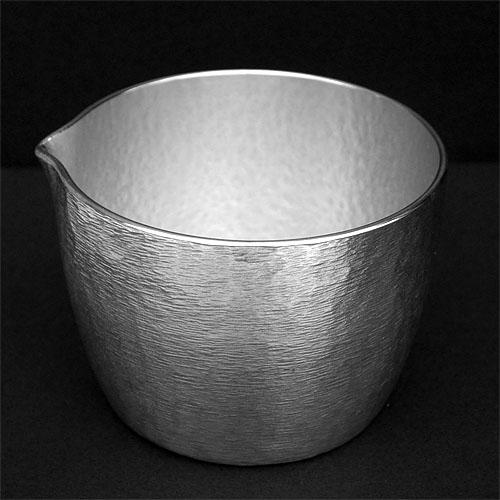 錫の酒器片口 鋳肌鎚目炭谷三郎商店