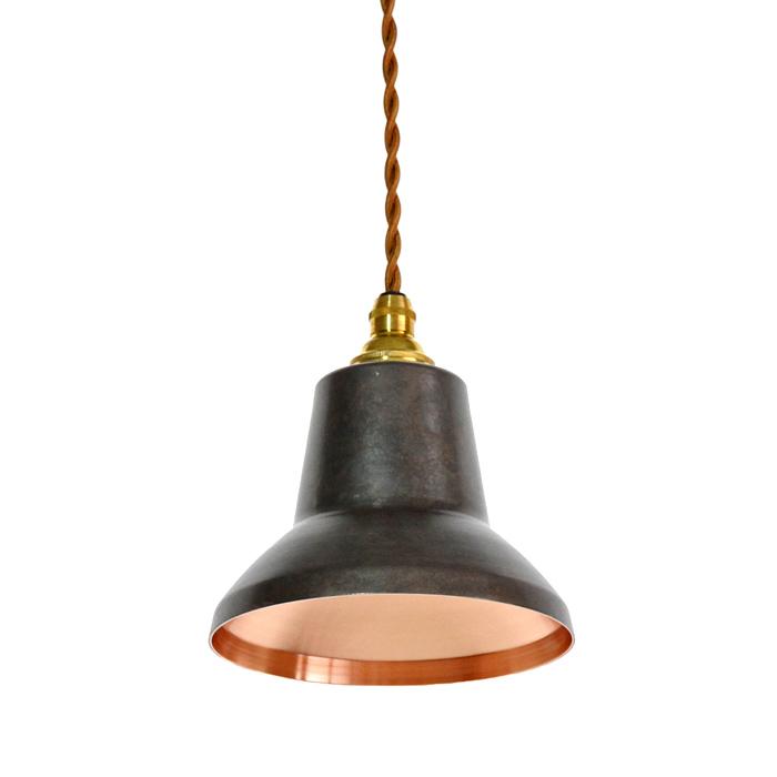 銅板シェードのペンダントライトtone spot 黒 モメンタムファクトリーOrii