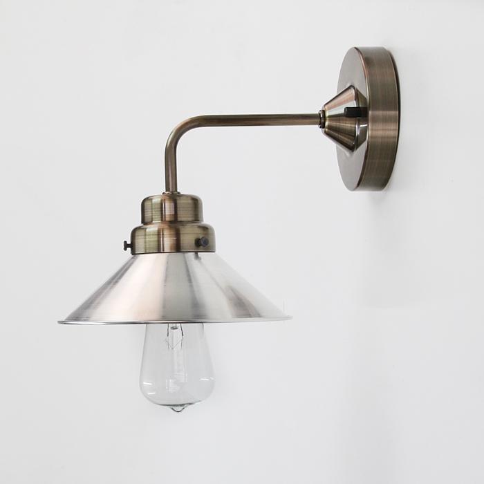 壁にもレトロモダン照明 出群 後藤照明アルミP5SブラケットBR アンティークランプ球60W屋内用 引出物