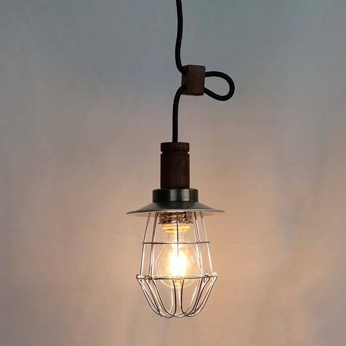 後藤照明アルミP1SガードペンダントクリアガラスLED電球付属3.2W(40W相当)