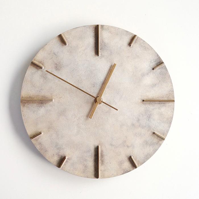 Quaint クエィント真鍮の時計斑紋純銀色lemnos