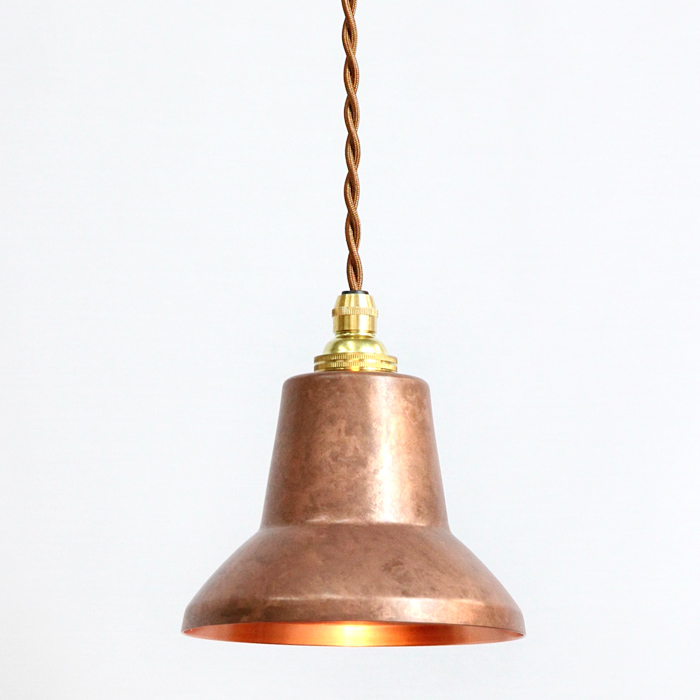 銅板シェードのペンダントライトtone spot copper pinkモメンタムファクトリーOrii